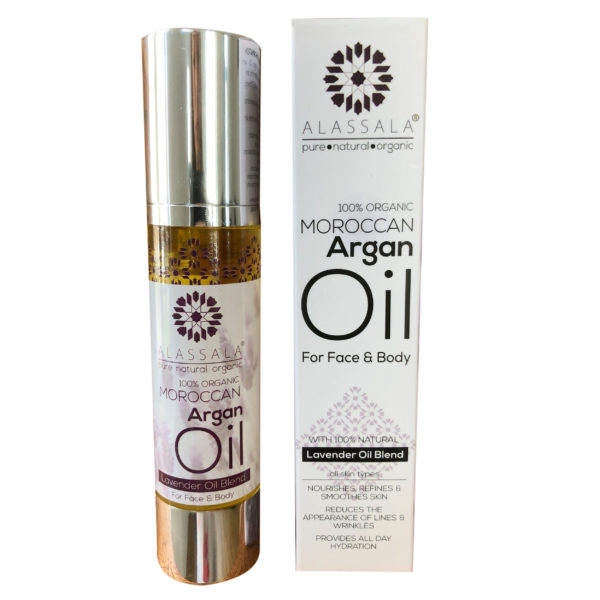 Marokkanisches Arganöl Lavendel Produktfoto