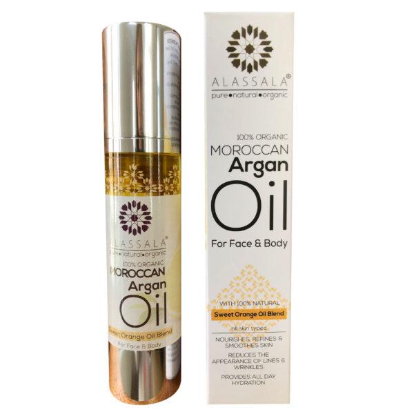 Marokkanisches Arganöl Süssorange Produktbild