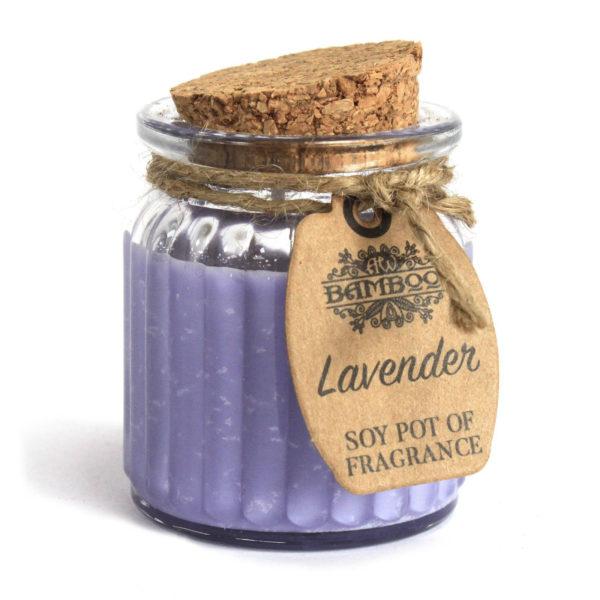 Sojawachskerze mit Aroma von Lavendel Produktbild