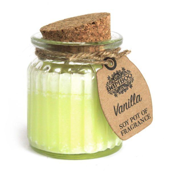 Sojawachskerze mit Aroma von Vanille Produktbild